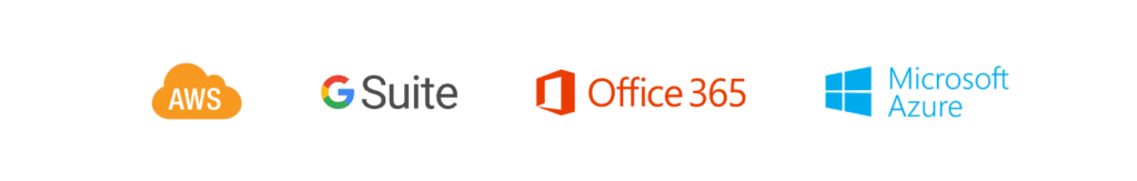 logo techno cloud AWS, GSUITE, Office365, Microsoft Azure