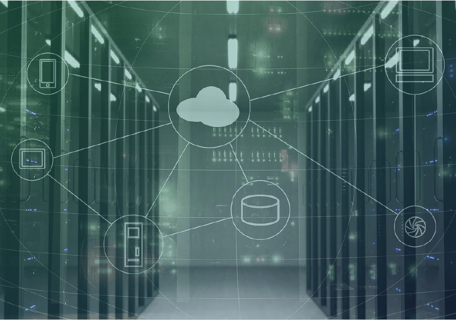 network and server to represent cloud and managed services